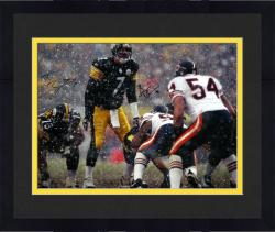 Framed Ben Roethlisberger and Brian Urlacher Dual Autographed 16'' x 20'' Snow Photograph