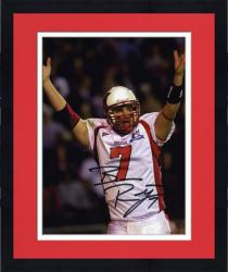 "Framed Ben Roethlisberger Miami University RedHawks 8"" x 10"" White Jersey Arms in Air Autographed Photograph"