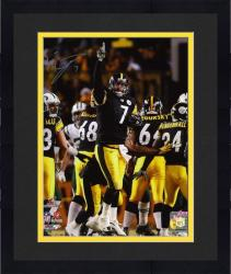 Framed Ben Roethlisberger Pittsburgh Steelers AFC Championship Game Autographed 8'' x 10'' Finger Photograph