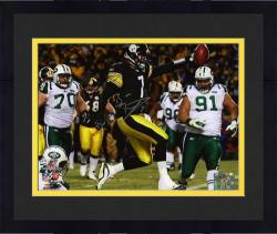 Framed Ben Roethlisberger Pittsburgh Steelers AFC Championship Game Autographed 8'' x 10'' Scoring Photograph