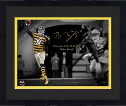 "Framed Ben Roethlisberger Pittsburgh Steelers Amazon Exclusive Autographed 11"" x 14"" Spotlight Photograph with Multiple Inscriptions - Limited Edition of 12"