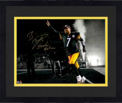 "Framed Ben Roethlisberger Pittsburgh Steelers Autographed 11"" x 14"" Out of Tunnel Spotlight Photograph with Steeler Nation Inscription"