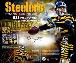 "Framed Ben Roethlisberger Pittsburgh Steelers Autographed 20"" x 24"" Timeline Collage Photograph"