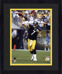 "Framed Ben Roethlisberger Pittsburgh Steelers Autographed 8"" x 10"" Releasing Ball Photograph"