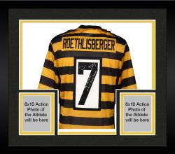 Framed Ben Roethlisberger Pittsburgh Steelers Autographed Nike Alternate Limited Black and Gold Jersey with Steeler Record Inscriptions - Limited Edition #2-49 of 50