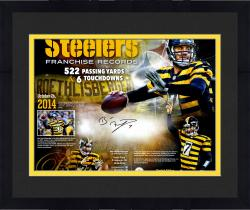 "Framed Ben Roethlisberger Pittsburgh Steelers Autographed Team Record 20"" x 24"" Limited Edition 1 of 7 Photograph"