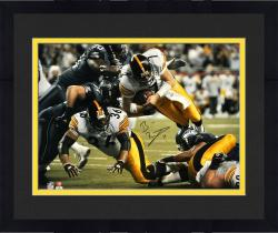 Framed Ben Roethlisberger Pittsburgh Steelers Super Bowl XL 16'' x 20'' Dive Shot Photograph