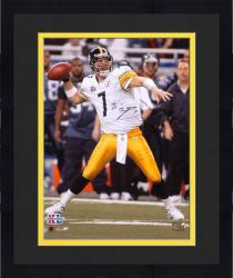 "Framed Ben Roethlisberger Pittsburgh Steelers Super Bowl XL 16"" x 20"" Passing Photograph"
