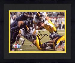 "Framed Ben Roethlisberger Pittsburgh Steelers Super Bowl XL Autographed 8"" x 10"" Dive Shot Photograph"