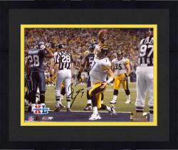 "Framed Ben Roethlisberger Pittsburgh Steelers Super Bowl XL Autographed 8"" x 10"" Spike Shot Photograph"