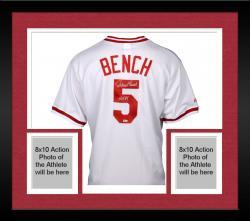 "Framed Bench, Johnny Auto ""hof 89""(white/cc/maj) (mlb) Jersey"