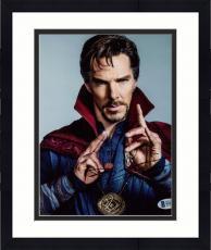 "Framed Benedict Cumberbatch Autographed 8"" x 10"" Doctor Strange Up Close Hands Up Photograph - Beckett COA"