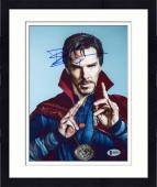 "Framed Benedict Cumberbatch Autographed 8"" x 10"" Dr. Strange Close Up Photograph - Beckett COA"