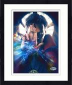 """Framed Benedict Cumberbatch Autographed 8"""" x 10"""" Dr. Strange Hand in Front of Face Photograph - Beckett COA"""