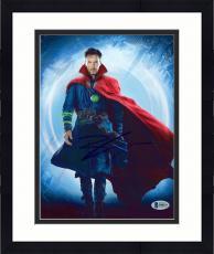 "Framed Benedict Cumberbatch Autographed 8"" x 10"" Dr. Strange Standing Photograph - Beckett COA"
