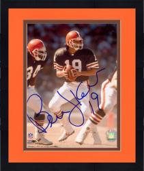 Framed Bernie Kosar Cleveland Browns Autographed 8'' x 10'' Drop Back Photograph