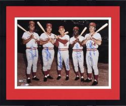 Framed Big Red Machine Cincinnati Reds Autographed 16'' x 20'' Photograph With ''4256''& HOF Inscriptions