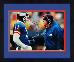 "Framed Bill Parcells & Phil Simms New York Giants Autographed 16"" x 20"" Talking Photograph"