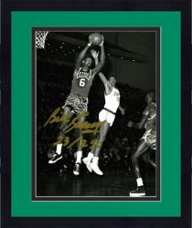 "Framed Bill Russell Boston Celtics Autographed Black & White 8"" x 10"" Photograph"