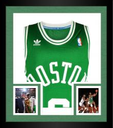 Framed Bill Russell Boston Celtics Autographed Green Throwback Swingman Jersey