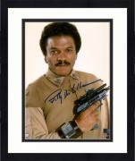 "Framed Billy Dee Williams Star Wars Return of the Jedi Autographed 8"" x 10"" Lando Holding Gun Photograph - Topps Authentic"