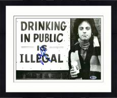 "Framed Billy Joel Autographed 11"" x 14"" Drinking In Public is Illegal Photograph - Beckett COA"