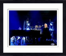 "Framed Billy Joel Autographed 11"" x 14"" Playing Piano Facing Crowd Photograph - Beckett COA"