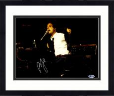"""Framed Billy Joel Autographed 11"""" x 14"""" Playing Piano Ripping Jacket Off Photograph - Beckett COA"""
