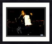 "Framed Billy Joel Autographed 11"" x 14"" Playing Piano Ripping Jacket Off Photograph - Beckett COA"