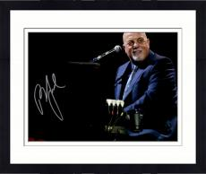 """Framed Billy Joel Autographed 11"""" x 14"""" Playing the Piano and Looking Into Crowd Black Background Photograph - Beckett COA"""