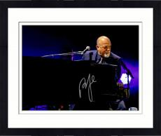 "Framed Billy Joel Autographed 11"" x 14"" Playing the Piano and Looking Into Crowd Purple Background Photograph - Beckett COA"