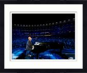 "Framed Billy Joel Autographed 11"" x 14"" Playing the Piano and Singing with Crowd in Background Photograph - Beckett COA"