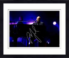 """Framed Billy Joel Autographed 11"""" x 14"""" Playing the Piano and Singing with Purple Background Photograph - Beckett COA"""