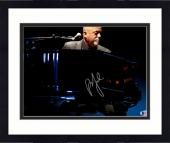 """Framed Billy Joel Autographed 11"""" x 14"""" Playing the Piano Wearing Grey Suit Photograph - Beckett COA"""