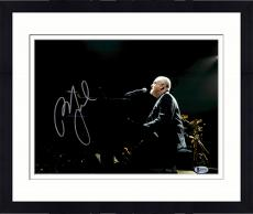 "Framed Billy Joel Autographed 11"" x 14"" Sitting at Piano Black Jacket Photograph - Beckett COA"