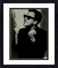 """Framed Billy Joel Autographed 11"""" x 14"""" Wearing Sunglasses Fists up White & Black Photograph - Beckett COA"""