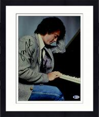 """Framed Billy Joel Autographed 11"""" x 14"""" Young Billy Playing Piano Photograph - Beckett COA"""
