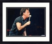 """Framed Billy Joel Autographed 8""""x 10"""" Singing into Microphone at Piano Photograph - Beckett COA"""
