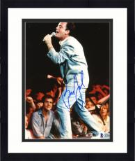 "Framed Billy Joel Autographed 8""x 10"" Singing into Microphone on Stage Photograph - Beckett COA"