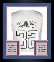 Framed Blake Griffin Los Angeles Clippers Autogtraphed 2012 Adidas Swingman Winter White Jersey