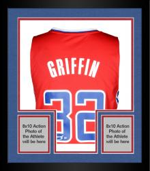 Framed Blake Griffin Los Angeles Clippers Autographed adidas Swingman Red Jersey