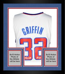 Framed Blake Griffin Los Angeles Clippers Autographed Adidas Swingman White Jersey with 11 ROY Inscription