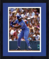 Framed Bo Jackson Kansas City Royals Autographed 8'' x 10'' At Bat Photograph