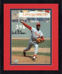 "Framed Bob Gibson St. Louis Cardinals Autographed 8"" x 10"" Ball In Hand Photograph"