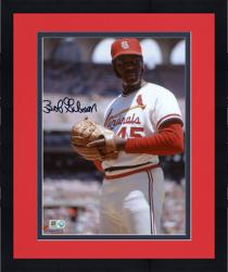 "Framed Bob Gibson St. Louis Cardinals Autographed 8"" x 10"" Pre-Pitch Photograph"