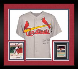 Framed Bob Gibson St. Louis Cardinals Autographed Gray Jersey with HOF 81 Inscription