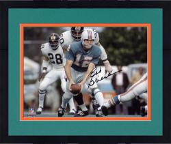 Framed Bob Griese Miami Dolphins Autographed 8'' x 10'' Pitch Black Photograph