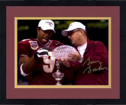 Framed Bobby Bowden Florida State Seminoles Autographed 8'' x 10'' Standing with Peter Warrick Photograph