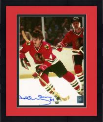 "Framed Bobby Orr Chicago Blackhawks Autographed 8"" x 10"" Skating With Helmet Off Photograph"