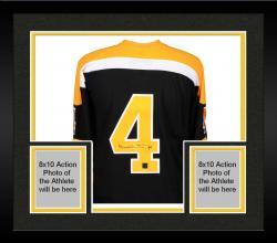 Framed Bobby Orr Boston Bruins Autographed CCM Vintage Jersey